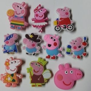 10 pcs. Shoe charms for crocs.
